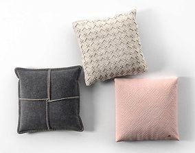 Decorative Pillow Set black 3D model
