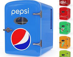 3D model Mini Fridge Pepsi Cola