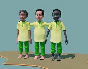 3D model Three friends