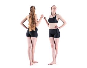 Female sport 23 3D asset