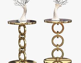 3D model Golden Bracelet Side Table