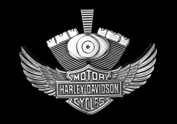 Pendant in style Harley Davidson 3D print model
