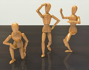 Wooden Dummy 3D model small