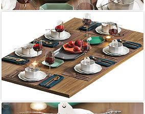 HQ Table setting 4 3D