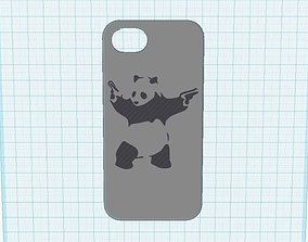 3D print model banksy panda with guns iphone 5 case
