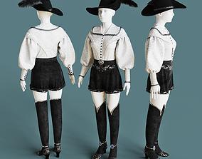 3D model Historical female costume
