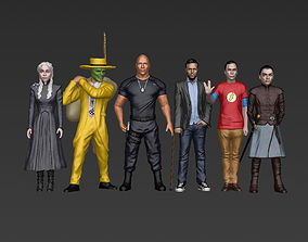 Famous TV Characters ready for full color 3D printing