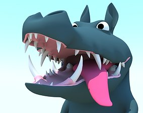 3D model Cartoony Crocodile