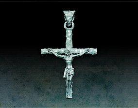 3D print model Jesus hammer texture pendant gold new