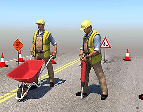 3D Workers 2 Figures