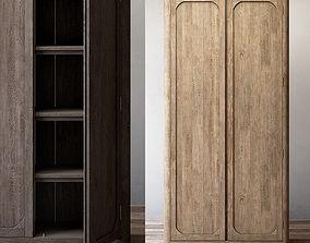 oak RH Martens panel double-door cabinet 3D
