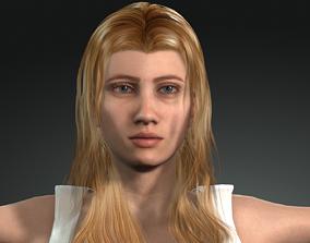 Woman 3D model animated head
