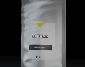 3D model Coffee bag pack with filter valve Small package 1
