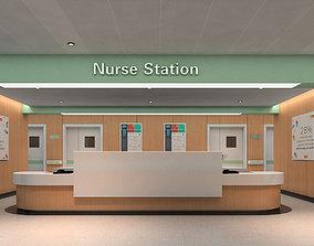 nurse Hospital corridor 3D model
