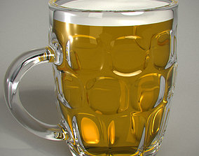 pub Beer Glass 3D