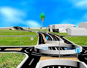 3D model plan high way - engineering