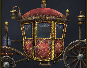 Animated Medieval Coach 3D model