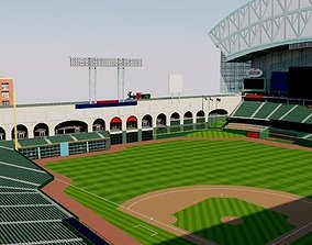 3D model Minute Maid Park - Houston Astros stadium