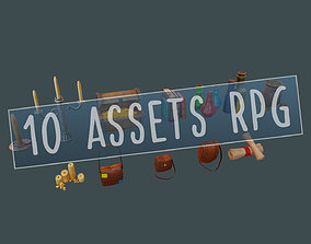 RPG BUNDLE - 10 ASSETS ITENS for a Rpg Adventure realtime