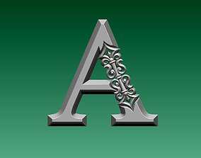 b 3D print model letter A