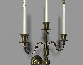 3D Modern wall mounted candlestick candelabra