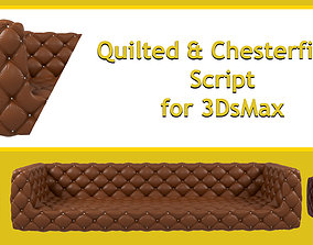 Quilted and Chesterfield Script 3D model