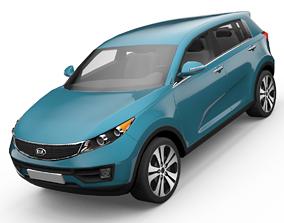 KIA Sportage SUV 3D Model animated low-poly