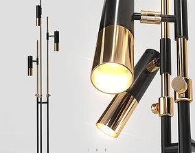 3D model Delightfull IKE floor 3 lamps