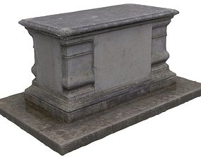 Tomb 01 - High and Low Poly Versions 3D asset