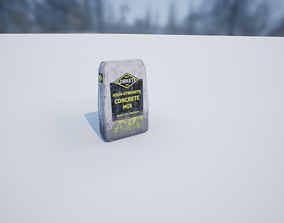 Concrete Bag PBR 3D model