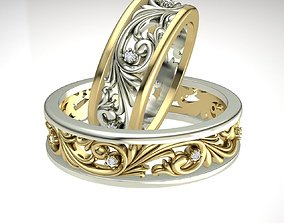 wedding rings 3d file