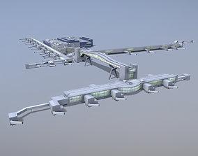 Airport Terminal EGKK North Terminal Gatwick 3D asset