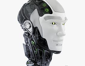 Cyborg head II 3d model