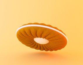 Biscuit sweet 3D model
