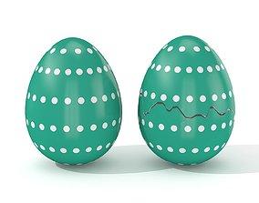 Easter Egg Cracked N004 3D model VR / AR ready