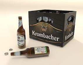 Krombacher Beer box with bottles 3D model