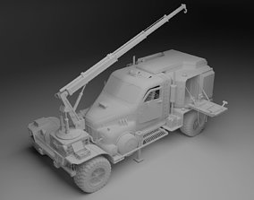 3D Survival crane truck resource harvester