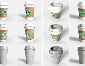 PBR Coffee Cup - Collection Starbucks 3D model