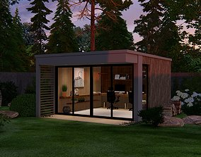 3D GARDEN ROOM - GARDEN OFFICE - Sketchup Lumion