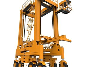 harbour Straddle Crane 3D asset