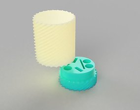3D printable model aaa battery holder smart