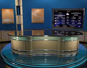 3D model News Room - Talk show Set