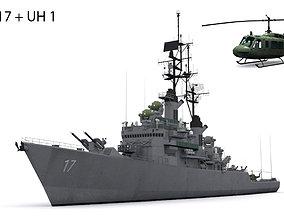 3D model DLG 17 USS Harry E Yarnell
