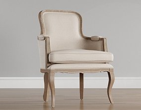 Fabric Upholstered Chair Classic 3D model