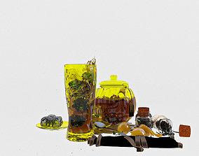 ginger 3D model Tea set
