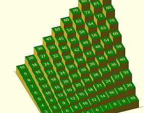 3D print model Customizable multiplication table