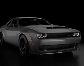 3D model sport-car Dodge Challenger SRT Demon 2018
