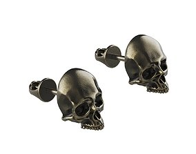 3D printable model Skull Earring Stud