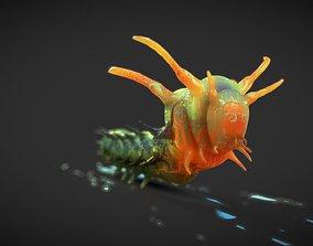3D asset Horned Devil Caterpillar