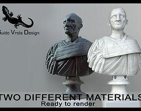 Marcus Porcius Cato the Censor bust 3D